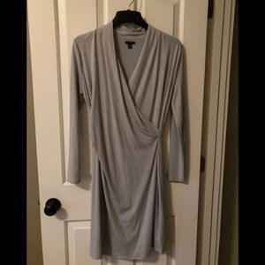 NWOT - Ann Taylor Gray Knit Wrap Dress